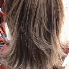 アウトドア ヘアアレンジ ストリート セミロング ヘアスタイルや髪型の写真・画像