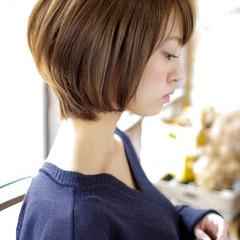 フェミニン ショート 簡単ヘアアレンジ ヘアスタイルや髪型の写真・画像