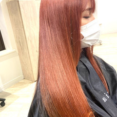 カシスレッド チェリーレッド レッドカラー 髪質改善 ヘアスタイルや髪型の写真・画像