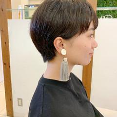 ショートマッシュ マッシュショート ショートヘア ナチュラル ヘアスタイルや髪型の写真・画像