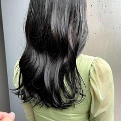 暗髪 ロング 暗髪女子 ナチュラル ヘアスタイルや髪型の写真・画像