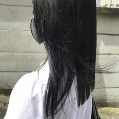 ネイビーブルー モノトーン ブルージュ ブルーブラック ヘアスタイルや髪型の写真・画像