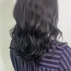ダークアッシュ ブルージュ 暗髪 ネイビーブルー ヘアスタイルや髪型の写真・画像