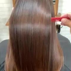 ナチュラル 美髪矯正 TOKIOトリートメント セミロング ヘアスタイルや髪型の写真・画像