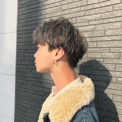 ショート シルバーアッシュ メンズカラー シルバー ヘアスタイルや髪型の写真・画像