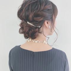 フェミニン デート おしゃれ ヘアアレンジ ヘアスタイルや髪型の写真・画像