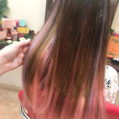 ガーリー パープル ピンク モテ髪 ヘアスタイルや髪型の写真・画像