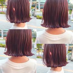 韓国ヘア ミニボブ ナチュラル 韓国風ヘアー ヘアスタイルや髪型の写真・画像