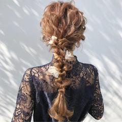 女子力 ヘアアレンジ 結婚式 エレガント ヘアスタイルや髪型の写真・画像