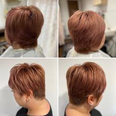 ブリーチ必須 ブリーチカラー ベリーショート ショート ヘアスタイルや髪型の写真・画像