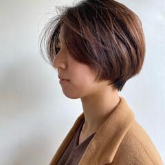 ナチュラル 黒髪ショート ショートボブ ヘアアレンジ ヘアスタイルや髪型の写真・画像