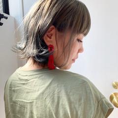 アッシュグレー アッシュグレージュ ボブ ダークグレー ヘアスタイルや髪型の写真・画像