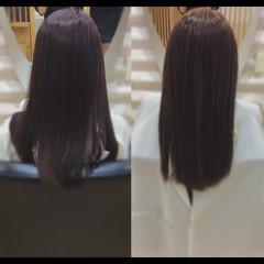 ロング 髪質改善カラー 髪質改善 鎖骨ミディアム ヘアスタイルや髪型の写真・画像
