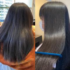 ロング 髪質改善 髪質改善カラー ナチュラル ヘアスタイルや髪型の写真・画像