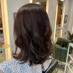 韓国ヘア 透明感カラー ナチュラル セミロング ヘアスタイルや髪型の写真・画像