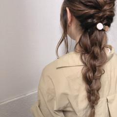簡単ヘアアレンジ ナチュラル ロング デート ヘアスタイルや髪型の写真・画像