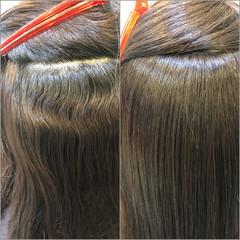 トリートメント 髪質改善トリートメント 艶髪 ナチュラル ヘアスタイルや髪型の写真・画像