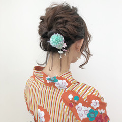 夏 花火大会 ミディアム お祭り ヘアスタイルや髪型の写真・画像