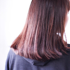 ナチュラル ピンク ラベンダーピンク ピンクアッシュ ヘアスタイルや髪型の写真・画像