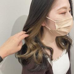 大人かわいい 韓国ヘア エレガント インナーカラー ヘアスタイルや髪型の写真・画像
