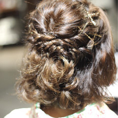 女子力 結婚式 ヘアアレンジ 透明感 ヘアスタイルや髪型の写真・画像