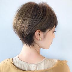 ショート ショートボブ 丸みショート ショートカット ヘアスタイルや髪型の写真・画像