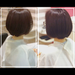 社会人の味方 ミディアム 髪質改善カラー 艶髪 ヘアスタイルや髪型の写真・画像