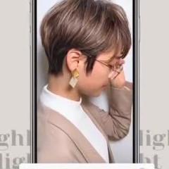ハイライト 大人ハイライト 白髪染め 極細ハイライト ヘアスタイルや髪型の写真・画像