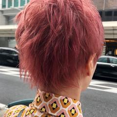 ナチュラル ショート ブリーチ 暖色 ヘアスタイルや髪型の写真・画像