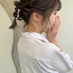 ボブ ミニボブ ガーリー ヘアアレンジ ヘアスタイルや髪型の写真・画像