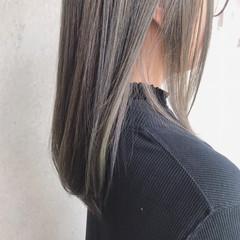 大人可愛い グレージュ ナチュラル ロング ヘアスタイルや髪型の写真・画像