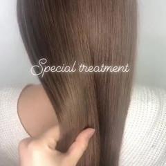 ロング トリートメント グレージュ 髪質改善トリートメント ヘアスタイルや髪型の写真・画像