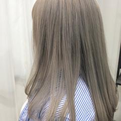ミルクティーアッシュ ミルクティーグレージュ ナチュラル ロング ヘアスタイルや髪型の写真・画像