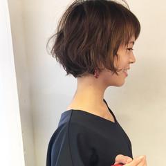 簡単ヘアアレンジ ボブ ナチュラル 女子力 ヘアスタイルや髪型の写真・画像