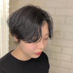 パーマ ミニボブ ベリーショート ボブ ヘアスタイルや髪型の写真・画像