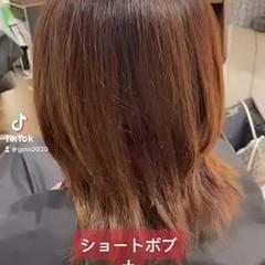 ショートボブ ショート 縮毛矯正 ストリート ヘアスタイルや髪型の写真・画像