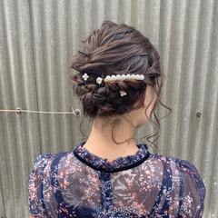 アンニュイほつれヘア ガーリー ヘアアレンジ 成人式 ヘアスタイルや髪型の写真・画像