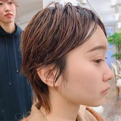 外国人風 大人かわいい ショート アンニュイほつれヘア ヘアスタイルや髪型の写真・画像