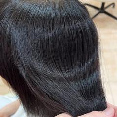 ラベンダー セミロング ナチュラル パープル ヘアスタイルや髪型の写真・画像