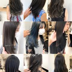 ブルージュ ブルーアッシュ ナチュラル インナーカラー ヘアスタイルや髪型の写真・画像