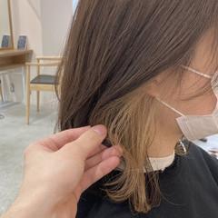 アンニュイほつれヘア インナーカラー 似合わせカット グレージュ ヘアスタイルや髪型の写真・画像