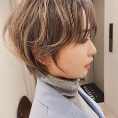 ナチュラル ベリーショート ショートヘア ハイトーンカラー ヘアスタイルや髪型の写真・画像