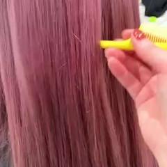 ベリーピンク ロング ピンクラベンダー ラベンダーピンク ヘアスタイルや髪型の写真・画像