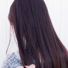 ピンクバイオレット バイオレットカラー バイオレットアッシュ ナチュラル ヘアスタイルや髪型の写真・画像
