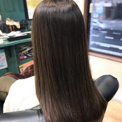 ストレート マットグレージュ マット ナチュラル ヘアスタイルや髪型の写真・画像