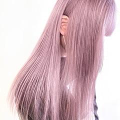 透明感カラー ナチュラル ブリーチオンカラー ピンク ヘアスタイルや髪型の写真・画像