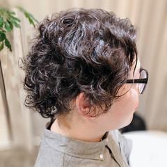 ミディアム ストリート スパイラルパーマ メンズパーマ ヘアスタイルや髪型の写真・画像