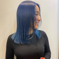 ハイトーンカラー ブロンドカラー ブリーチカラー ミディアム ヘアスタイルや髪型の写真・画像