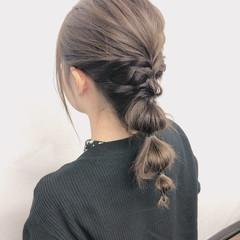 編みおろしヘア 大人可愛い ゆるふわセット ヘアアレンジ ヘアスタイルや髪型の写真・画像