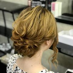 ヘアセット フェミニン アップ 結婚式 ヘアスタイルや髪型の写真・画像
